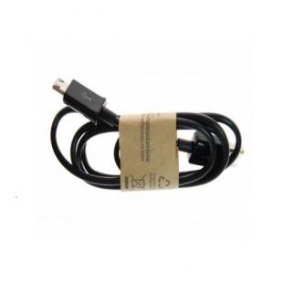 Шнур USB-microUSB 90см (длинный разъем) черный
