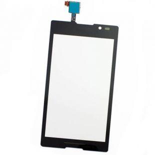 Тачскрин для Sony Xperia C C2305, C2304 чёрный, оригинал
