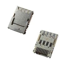 Коннектор SIM карты для Samsung G530, G7102, G900 с раз. microSD