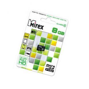 8 GB Карта памяти MicroSDHC класс 10, Mirex