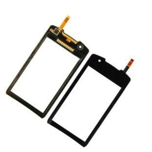 Тачскрин для Samsung GT-S5620 Monte чёрный на скотче