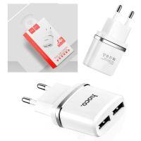 Сетевое зарядное устройство (СЗУ) Hoco 2.4A белое 2USB