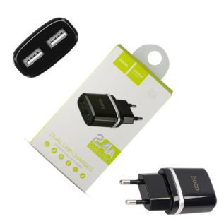 Сетевое зарядное устройство (СЗУ) Hoco 2.4A черное 2USB