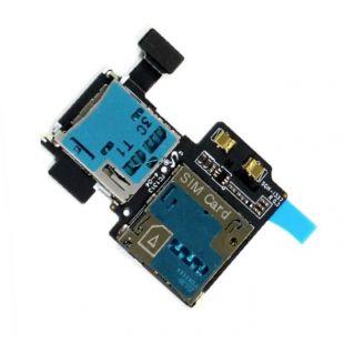 Коннектор SIM карты и карты памяти для Samsung i9500 S4