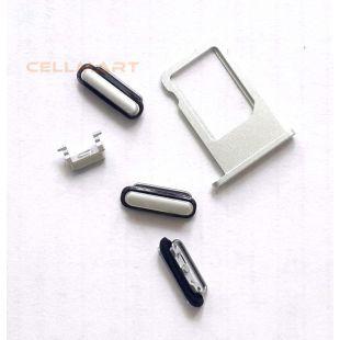 Лоток сим карты для iPhone 6 серебро с кнопками