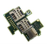 Коннекторы SIM для Sony C2004, C2005 и разъём microSD на плате