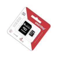 4 GB Карта памяти MicroSDHC класс 10 с адаптером