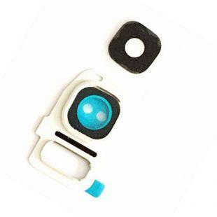 Стекло тыловой камеры защитное для Samsung G930F, G935F белое
