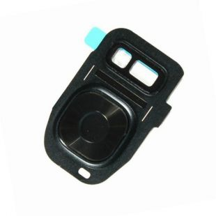 Стекло тыловой камеры защитное для Samsung G930F, G935F черное