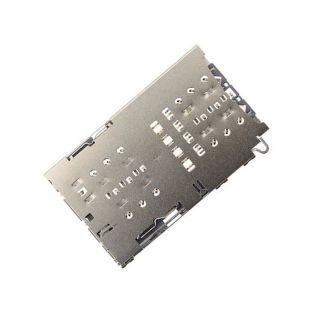 Коннектор SIM карты для Samsung G970, N970, G950 с раз. microSD