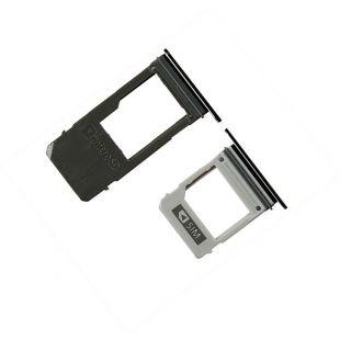 Лотки сим и microSD карт для Samsung A520, A720 (одна SIM) чёрные