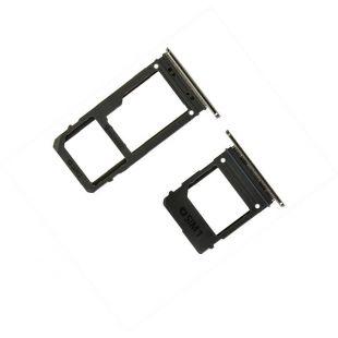 Лотки сим и microSD карт для Samsung A520, A720 (две SIM) чёрные