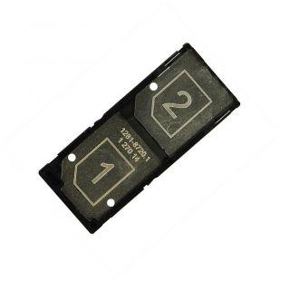 Лоток сим карты для Sony D2502 Xperia C3 на две SIM черный