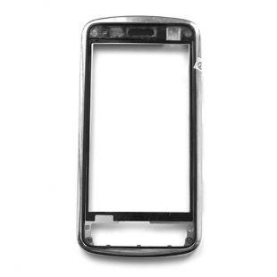 Рамка тачскрина для Nokia C6-01 серебро, оригинал