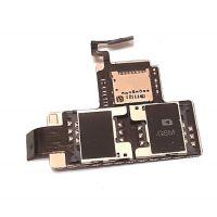 Коннектор SIM карты и microSD для HTC Desire V T328W б/у оригинал