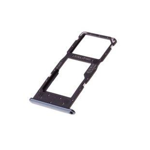 Лоток сим карты для Huawei Honor 10 Lite (две SIM) чёрный