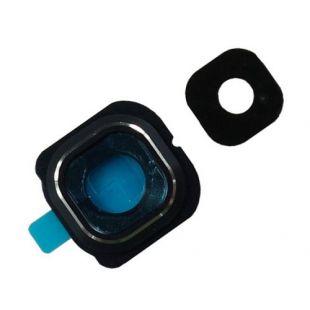 Стекло тыловой камеры защитное для Samsung G925F черное на рамке