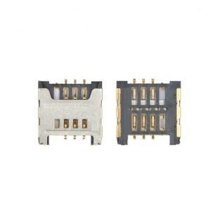 Коннектор SIM карты для Samsung N7000, S5360, S5570, E2222, i9003