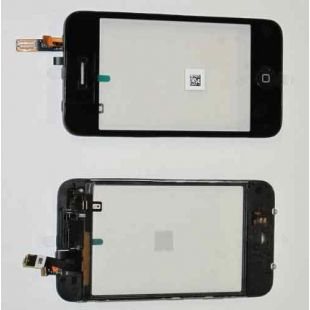 Тачскрин для iPhone 3G черный в рамке с динамиком