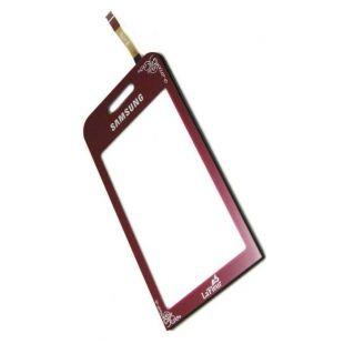 Тачскрин для Samsung S5230 бордовый  LaFleur на скотче