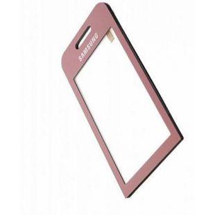 Тачскрин для Samsung S5230 розовый, на скотче