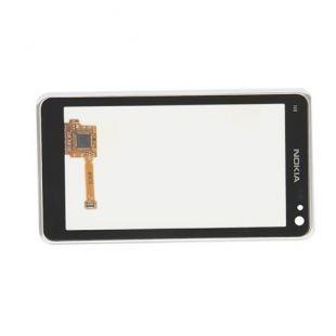 Тачскрин для Nokia N8 в рамке серебро, оригинал