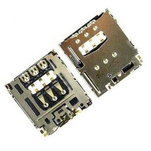Коннектор SIM карты для Sony D5102, D5103, D5106, D2302