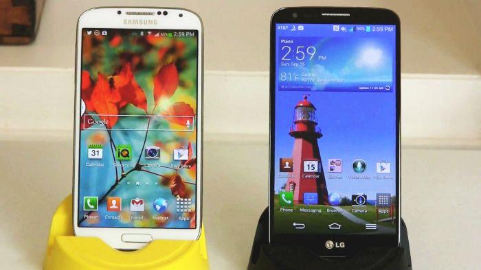LG G2 vs. Samsung Galaxy S4 Smartphones