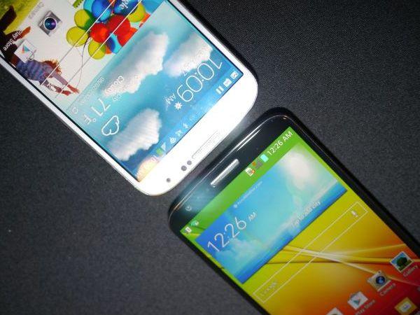 Сравнить экраны LG G2 и Samsung Galaxy S4