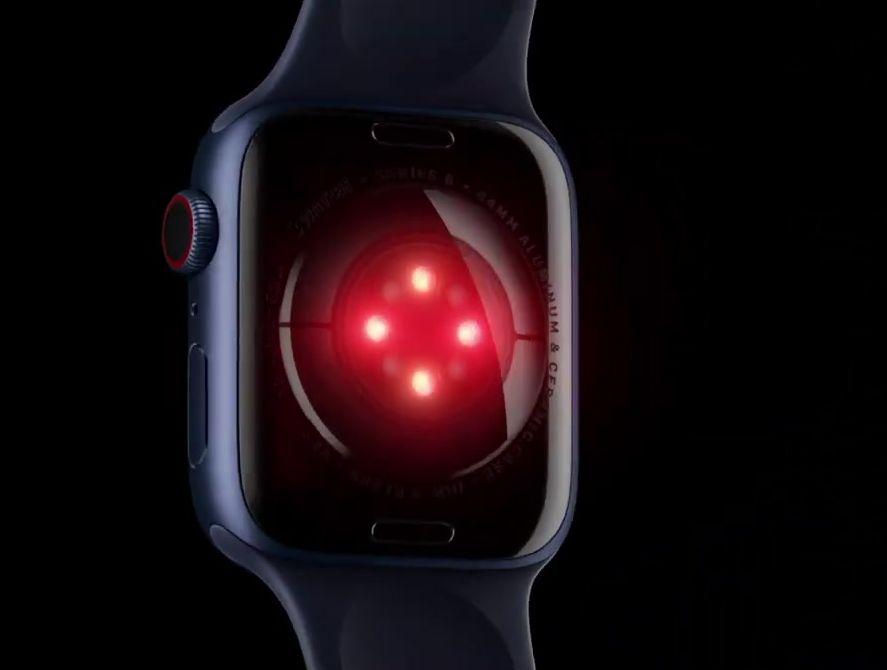 Сканеры уровня SpO2 нижней панели в смарт часах Эппл