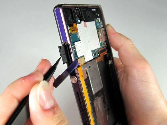 Вытащить лоток SIM карты C6602